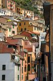 Colourful buildings of Riomaggiore, Italy Stock Photos