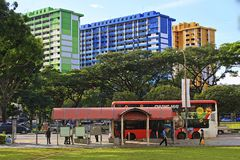 Colourful buildings in Singapore Stock Images