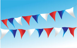 Colourful bunting flags Stock Images