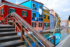 Colourful Burano island, Italy Royalty Free Stock Images