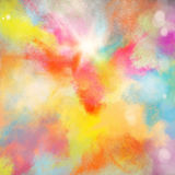 Colourful burst. Background of burst of bright colored powders Stock Images