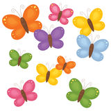 Colourful butterflies. Royalty Free Stock Photo