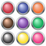 Colourful Button Icon Set Royalty Free Stock Photography