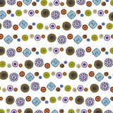 Colourful button patterns background. Royalty Free Stock Image