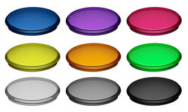 Colourful buttons Stock Photography