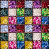 Colourful buttons seamless pattern Royalty Free Stock Photo