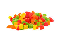 Colourful candies on white background Royalty Free Stock Photography