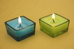 Colourful candles Stock Image