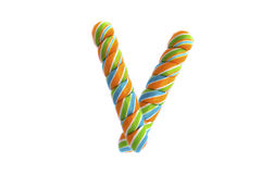 Colourful candy over the white background Royalty Free Stock Photos