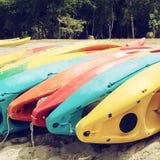 Colourful canoe Stock Photo
