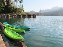Free Colourful Canoes Royalty Free Stock Image - 40279336