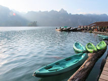 Colourful canoes Royalty Free Stock Images