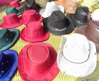 Colourful Cap. Colour full cap on a shop Stock Photography