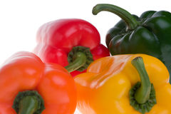 Colourful capsicums Stock Photo