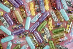 Colourful Capsules Royalty Free Stock Photo
