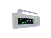 Colourful cardiovascular portable monitor,doppler,. Digital color cardiovascular portable monitor display the cardio diagnostic results of patient (including Royalty Free Stock Photos