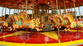 Colourful carousel Stock Photos