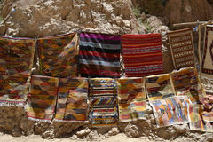 Colourful carpets at Todgha Gorge, Morocco Stock Photography