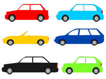Colourful cars Stock Images