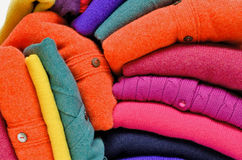 Colourful cashmere alpaca and merino wool Stock Photos