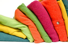 Colourful cashmere alpaca and merino wool Royalty Free Stock Photo