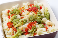 Colourful cauliflower salad bowl angled Royalty Free Stock Photo
