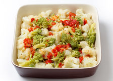 Colourful cauliflower salad bowl Royalty Free Stock Images