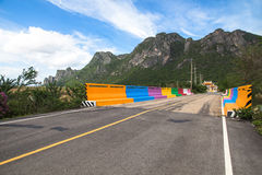 Colourful Cement bridge to sam roi yod national park. Royalty Free Stock Image