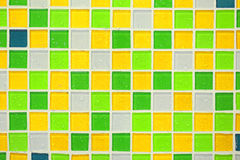 Colourful ceramic tile wall Royalty Free Stock Photos