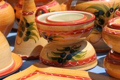 Colourful Ceramics On The French Riviera Royalty Free Stock Photography