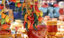 Colourful Ceramics On The French Riviera Royalty Free Stock Photos