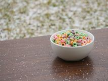 Colourful cereal royalty free stock images
