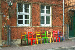 Colourful chairs Royalty Free Stock Photos