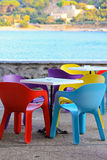 Colourful chairs Royalty Free Stock Photography