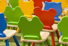 Colourful chairs Stock Photo