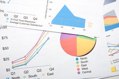 Colourful Charts Royalty Free Stock Photography