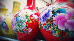 Colourful China vases Stock Photos
