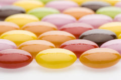 Colourful Chocolate. Candy on white background Royalty Free Stock Image