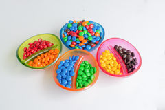 Colourful chocolate candy party bonbons Royalty Free Stock Photo