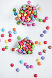 Colourful chocolate drops Stock Photography