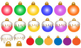 Colourful Christmas Balls Royalty Free Stock Photos