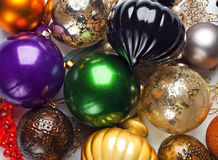 Colourful Christmas baubles. Royalty Free Stock Photography
