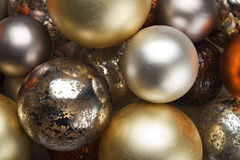 Colourful Christmas baubles. Stock Photo