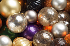 Colourful Christmas baubles. Royalty Free Stock Photo