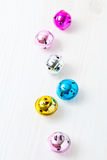 Colourful Christmas baubles Stock Images