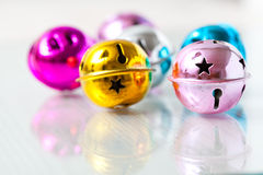 Colourful Christmas baubles Royalty Free Stock Photography