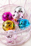 Colourful Christmas baubles Royalty Free Stock Photos