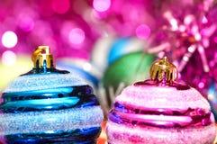 Colourful christmas decoration. On a shiny background Royalty Free Stock Image