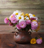 Colourful chrysanthemums bunch. Royalty Free Stock Photos