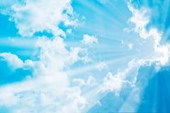 Colourful cienie w niebie i chmury Obrazy Royalty Free